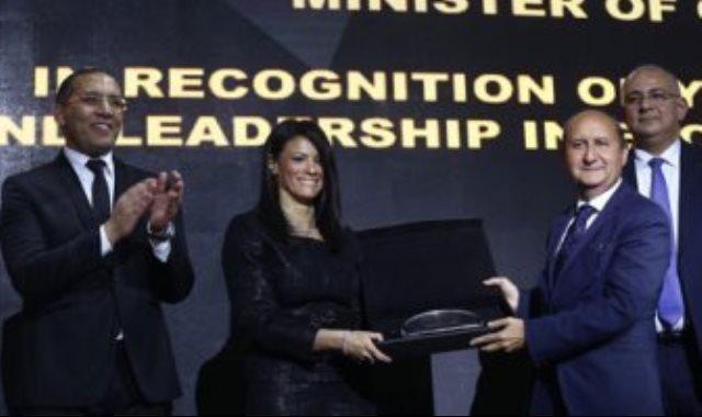 تكريم الدكتورة رانيا المشاط بحفل BT100