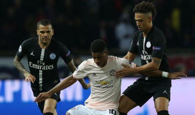 جزء من مباراة باريس سان جيرمان ضد مانشستر يونايتد