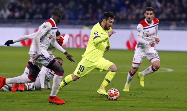 برشلونة ضد ليون