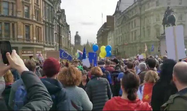 مظاهرات البريكست في بريطانيا