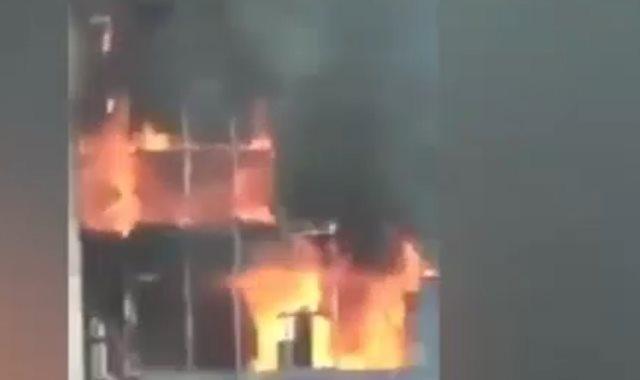 حريق مبنى فى بنجلاديش