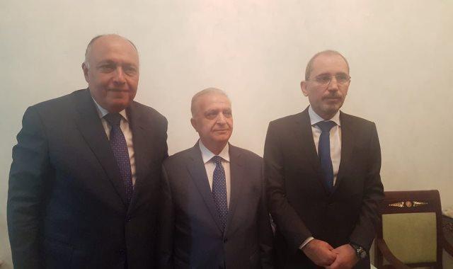 وزراء خارجية مصر والأردن والعراق