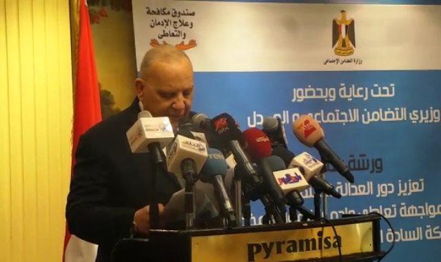وزير العدل: جهود الوزارة جزء من مجهودات الدولة للتصدى للإدمان