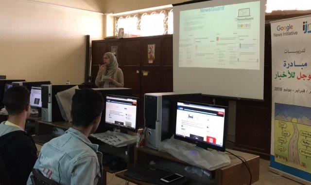 """جامعة حلوان تنظم تدريبا لطلاب الإعلام حول """"الأخبار الكاذبة"""""""