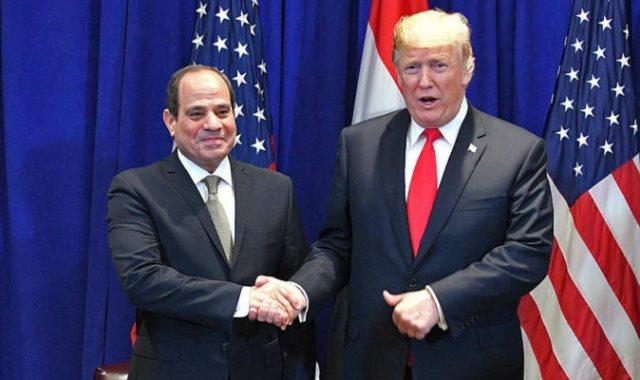 الرئيس عبدالفتاح السيسى والرئيس الأمريكي دونالد ترامب