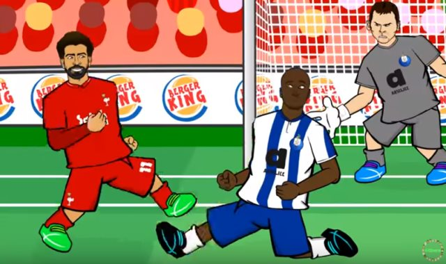 لقطة محمد صلاح المثيرة فى المباراة