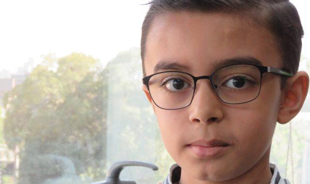 الطفل محمد أشرف بعد إنتهاء فترة العلاج