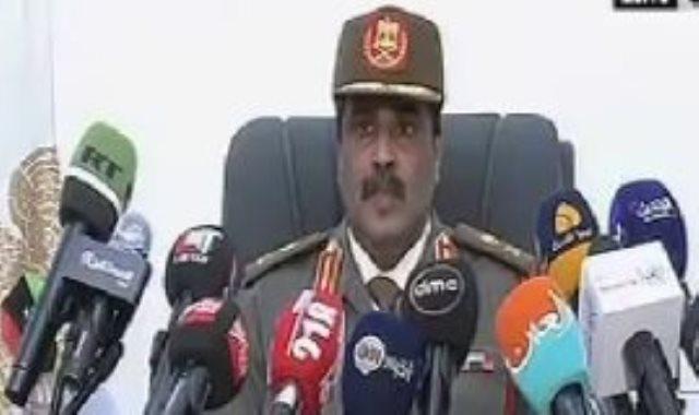 اللواء أحمد المسمارى المتحدث باسم القوات المسلحة الليبية