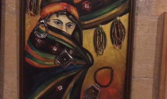 معرض لوحات فنية من إبداعات شباب الأزهر ببيت السنارى