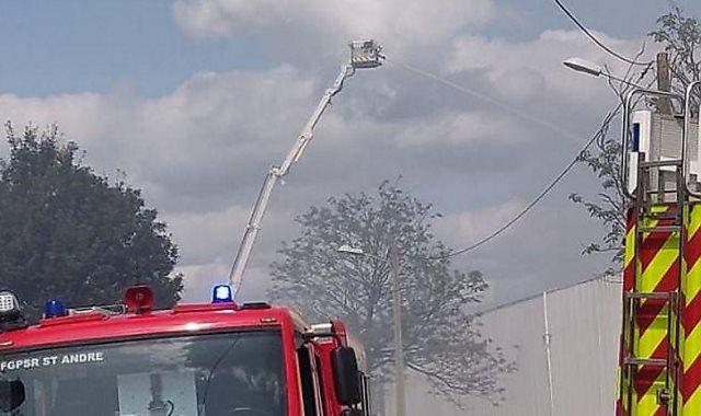 حريق مستودع
