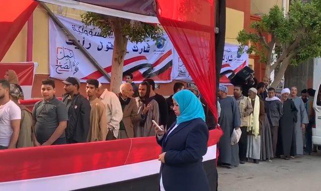 إقبال المواطنين على مراكز التصويت