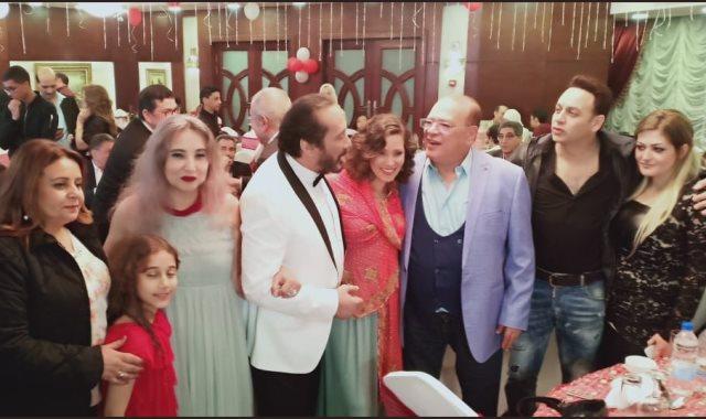 احتفال صلاح عبد الله بعيد ميلاد علي الحجار