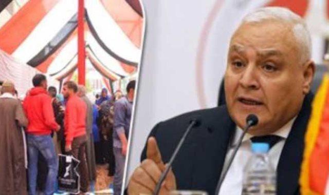 المستشار لاشين ابراهيم رئيس الهيئة الوطنية للانتخابات