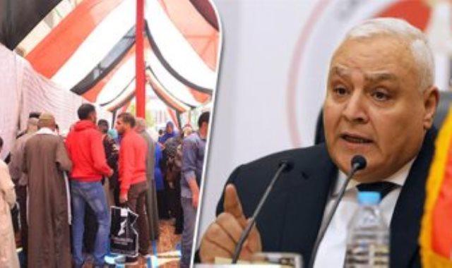 المستشار لاشين إبراهيم رئيس الهيئة الوطنية للانتخابات - أرشيفية