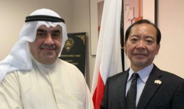سفير اليابان في الكويت يستقبل أحمد إسماعيل بهبهاني