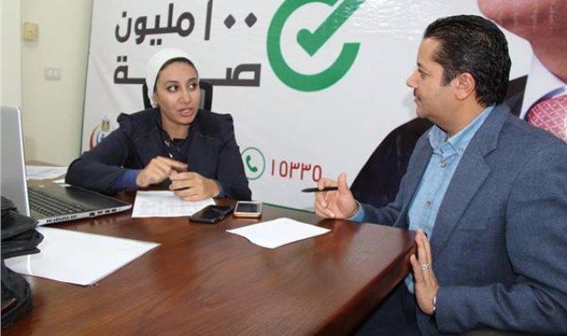 الدكتورة ريهام غلاب المدير التنفيذى لمبادرة 100 مليون صحة