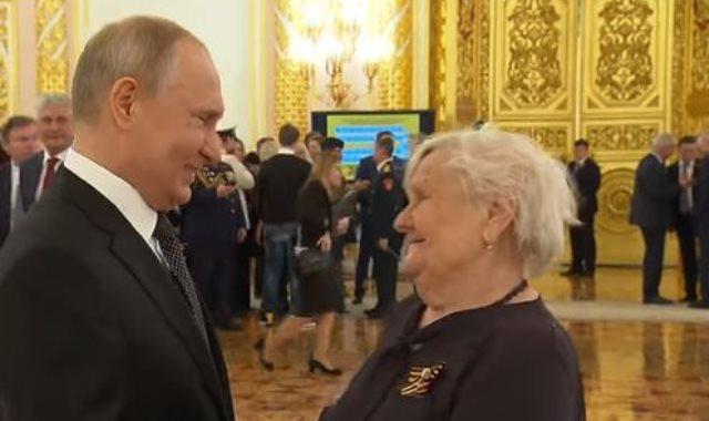 فلاديمير بوتين ومعلمته