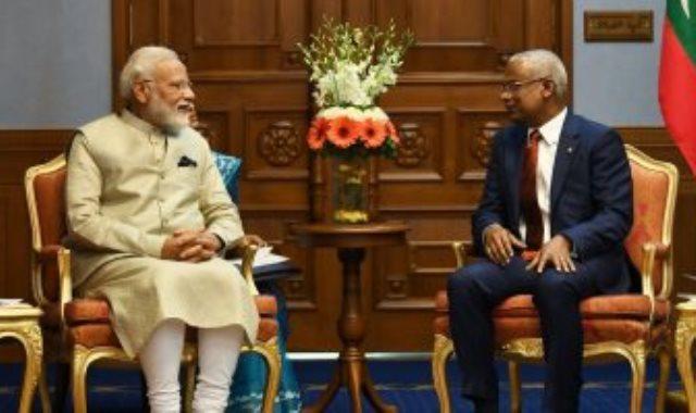 مودى مع رئيس المالديف