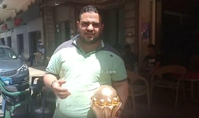 مجسمات كأس أمم أفريقيا فى مقاهى الإسكندرية