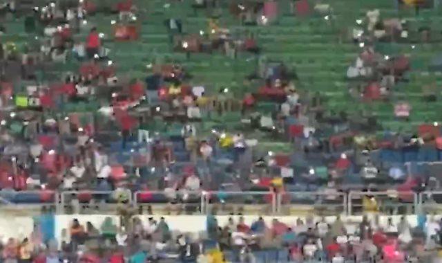تحية للشهداء فى الدقيقة 74 بمباراة السنغال ضد تنزانيا