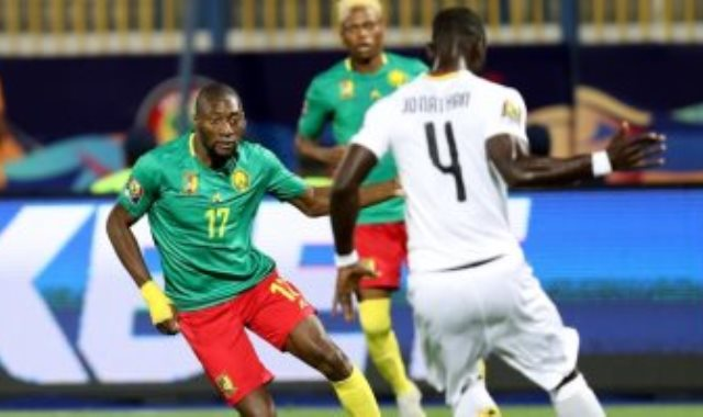 جانب من مباراة الكاميرون وغانا