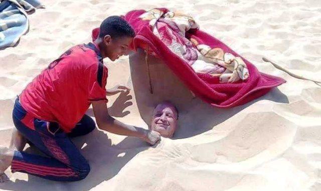الدفن فى رمال سيوة