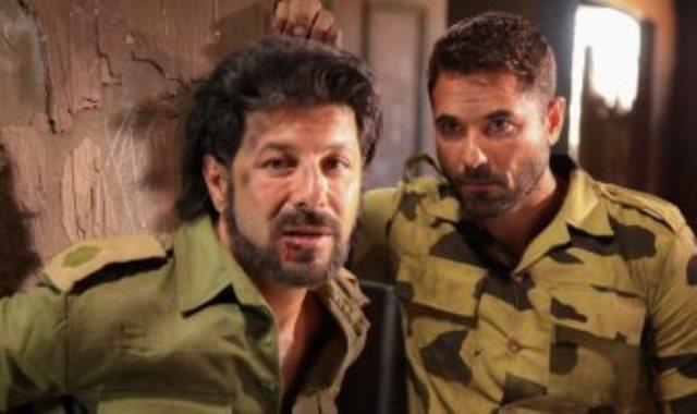 أحمد عز وإياد نصار من داخل كواليس فيلم الممر