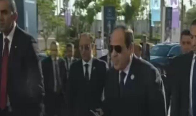 وصول الرئيس السيسي لمؤتمر الشباب