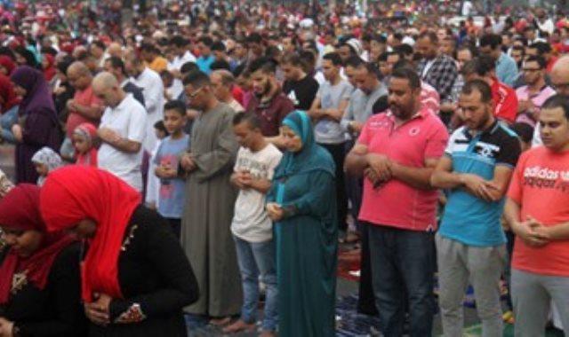 صلاة العيد بمسجد مصطفى محمود