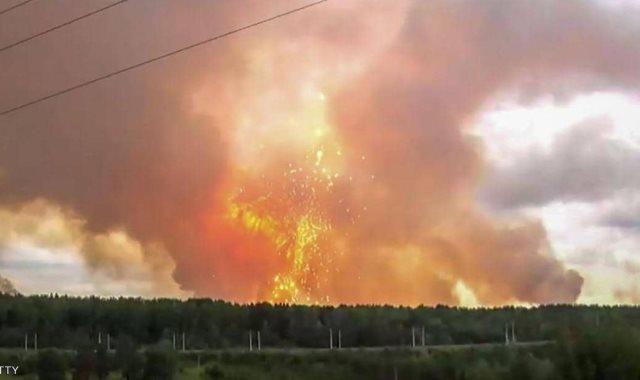 جانب من انفجار النووي فى روسيا