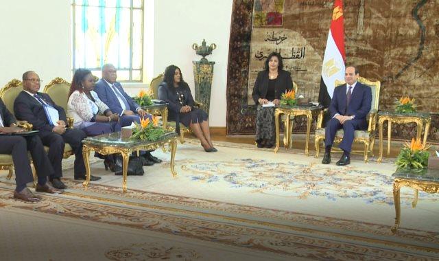 الرئيس السيسى يستقبل رئيسة برلمان توجو