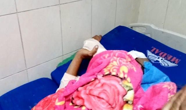 استخراج زاوية حديدية من عين طفل بمستشفى سوهاج الجامعى