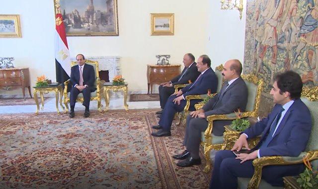 جانب من استقبال الرئيس وليد جنبلاط زعيم الحزب التقدمي الاشتراكي اللبناني