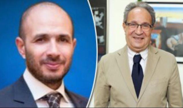 محمد العزازى رئيس جامعة مصر وخالد الطوخى رئيس مجلس أمناء الجامعة
