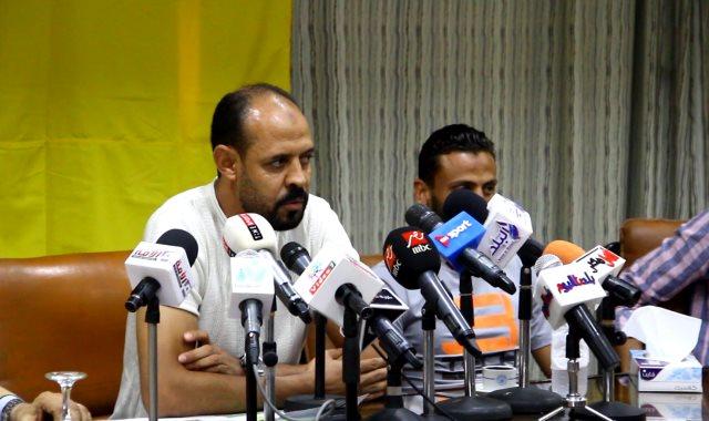 عماد النحاس أثناء المؤتمر