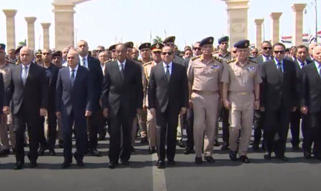الرئيس السيسى يتقدم الجنازة العسكرية للفريق إبراهيم العرابى