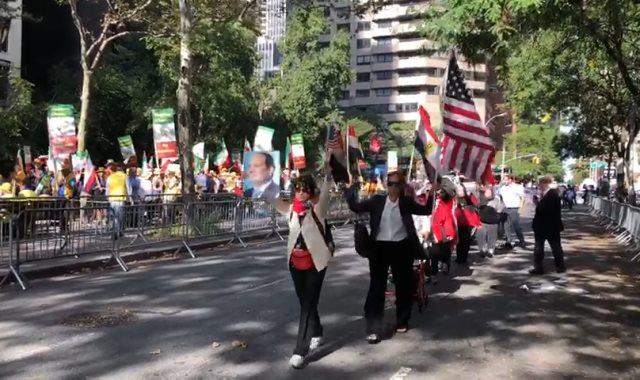 المصريون بأمريكا ينظمون وقفة تأييد للرئيس السيسى