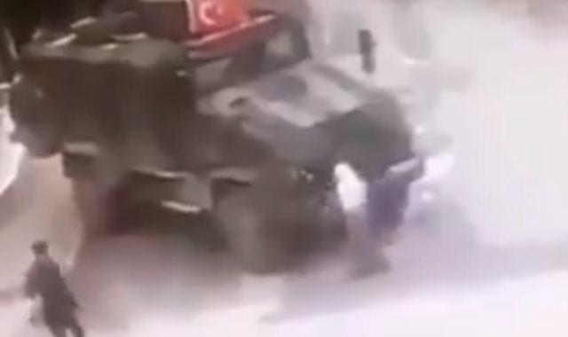 قوات تركية تدهس عجوزا كردية فى سوريا بدم بارد