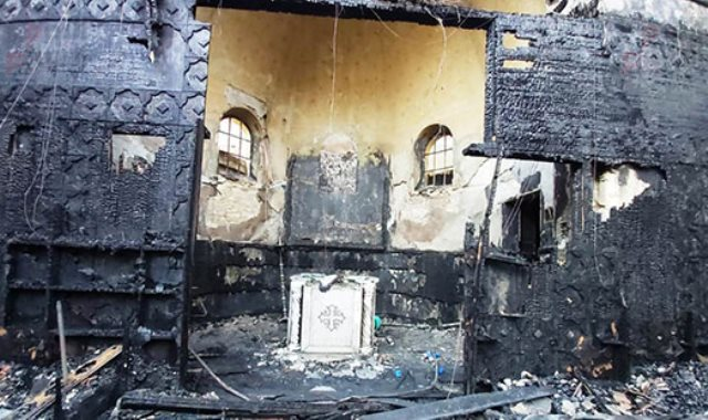 حريق كنيسة مارجرجس حلوان