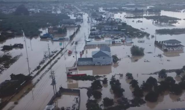 فيضانات في اليابان بسبب الإعصار