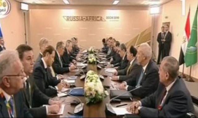 الرئيس السيسي ونظيره بوتين