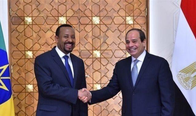 الرئيس عبد الفتاح السيسى ورئيس الوزراء الإثيوبى أبى أحمد