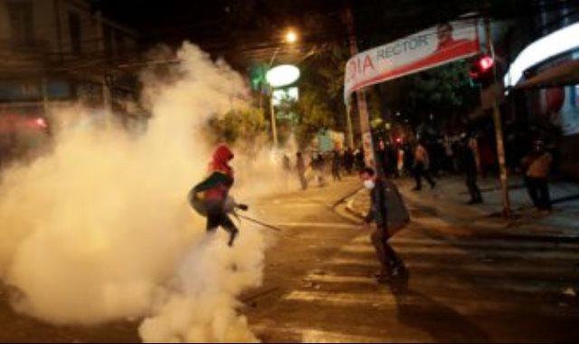 جانب من الاشتباكات فى بوليفيا