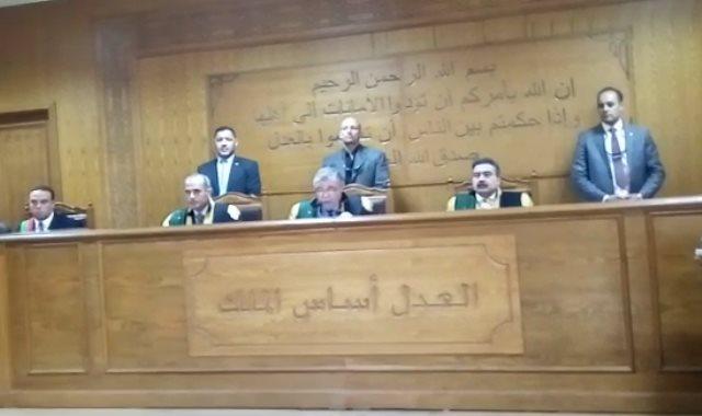 المستشار حسن فريد وهيئة المحكمة ـ أرشيفية