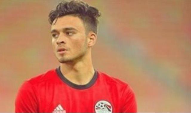 صلاح محسن لاعب المنتخب الاولمبي