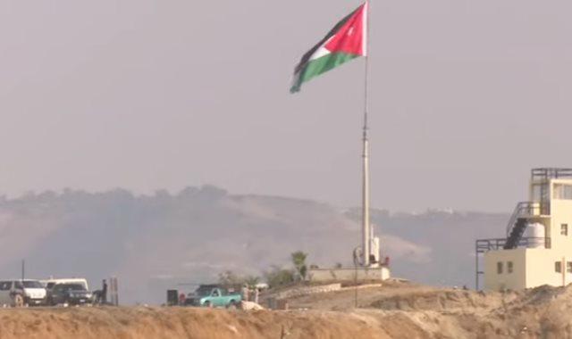 العلم الأردنى على أرض الباقورة