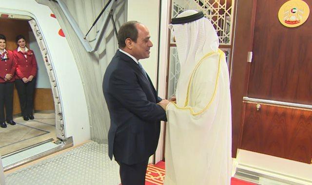 جانب من زيارة الرئيس السيسي للإمارات