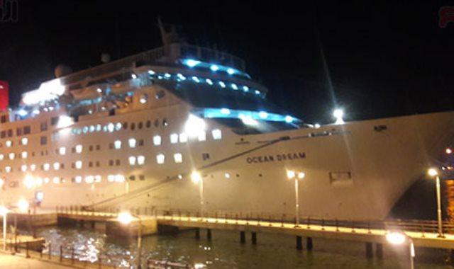 ميناء بورسعيد يستقبل السفينة السياحية ocean Dream