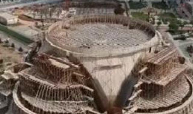 المسجد قبل انهيار القبة