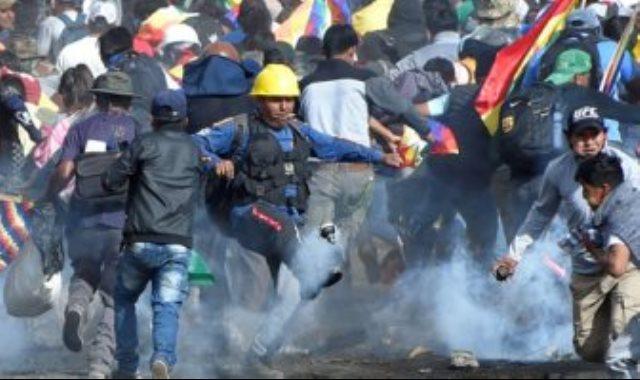 الاشتباكات فى بوليفيا